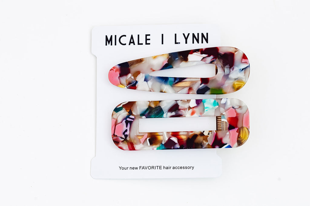 Multicolor Speck Hairclip Set