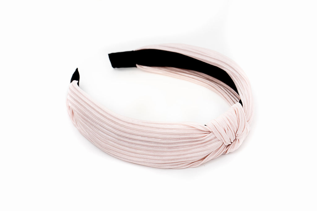 Blush Ribbed Knotted Headband