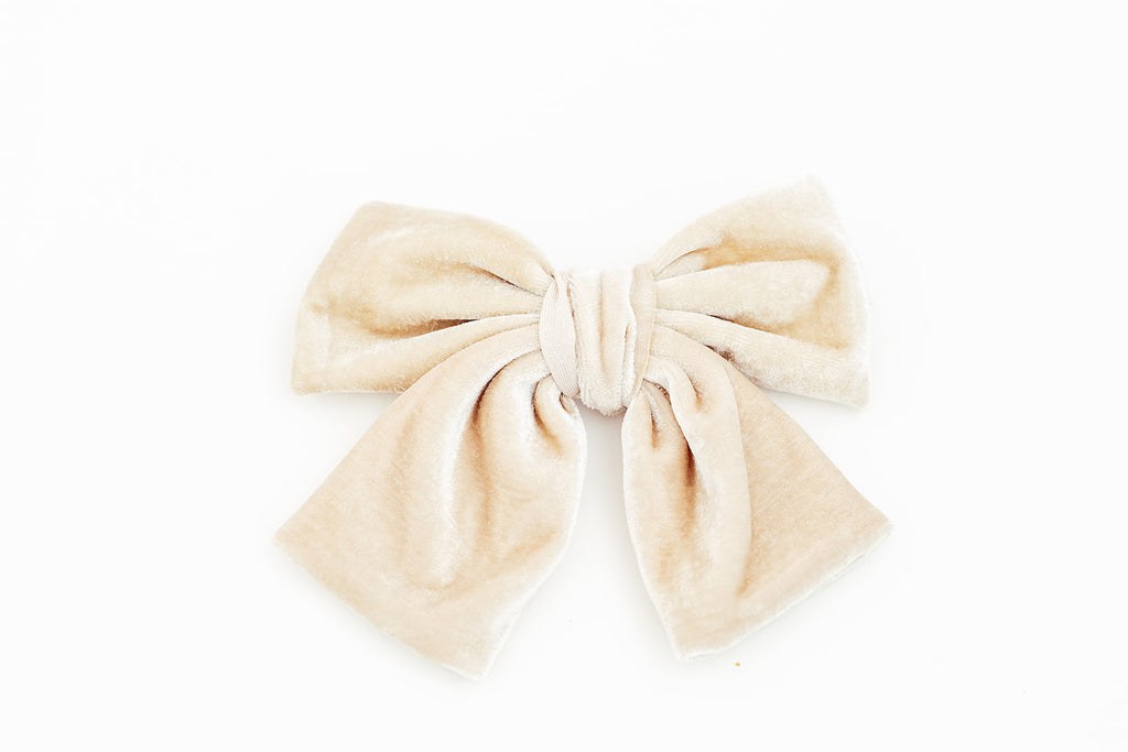 Big Cream Velvet Bow