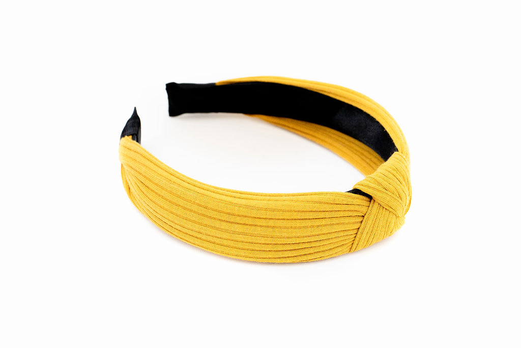 Mustard Ribbed Headband