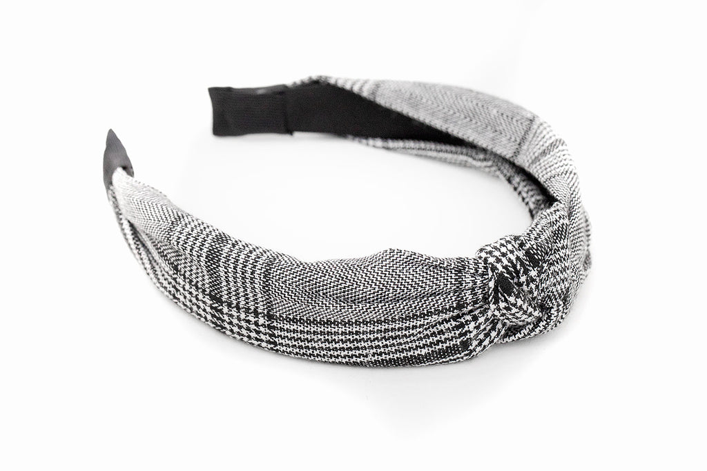 Boyfriend Plaid Knotted Headband