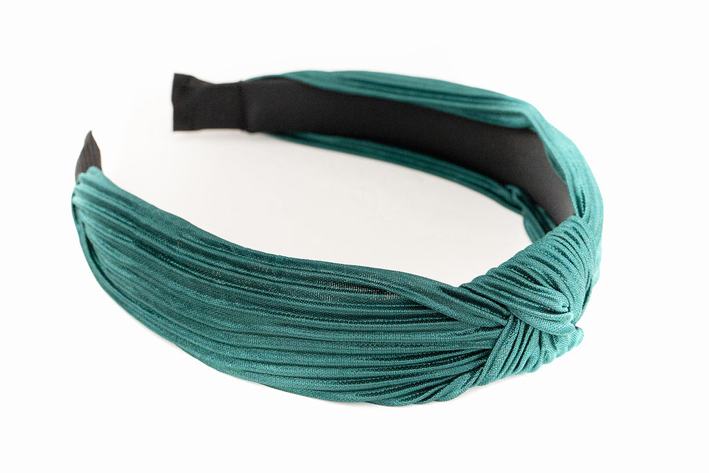 Emerald Ribbed Knotted Headband