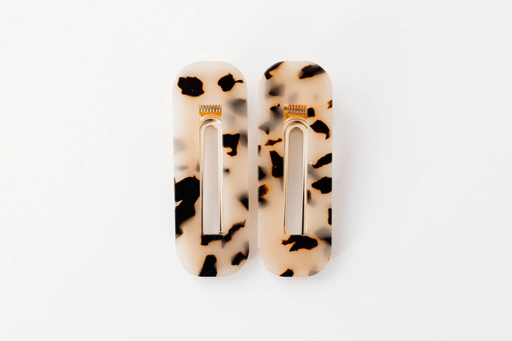 Light Leopard Square Clips