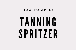Apply tanning spritzer