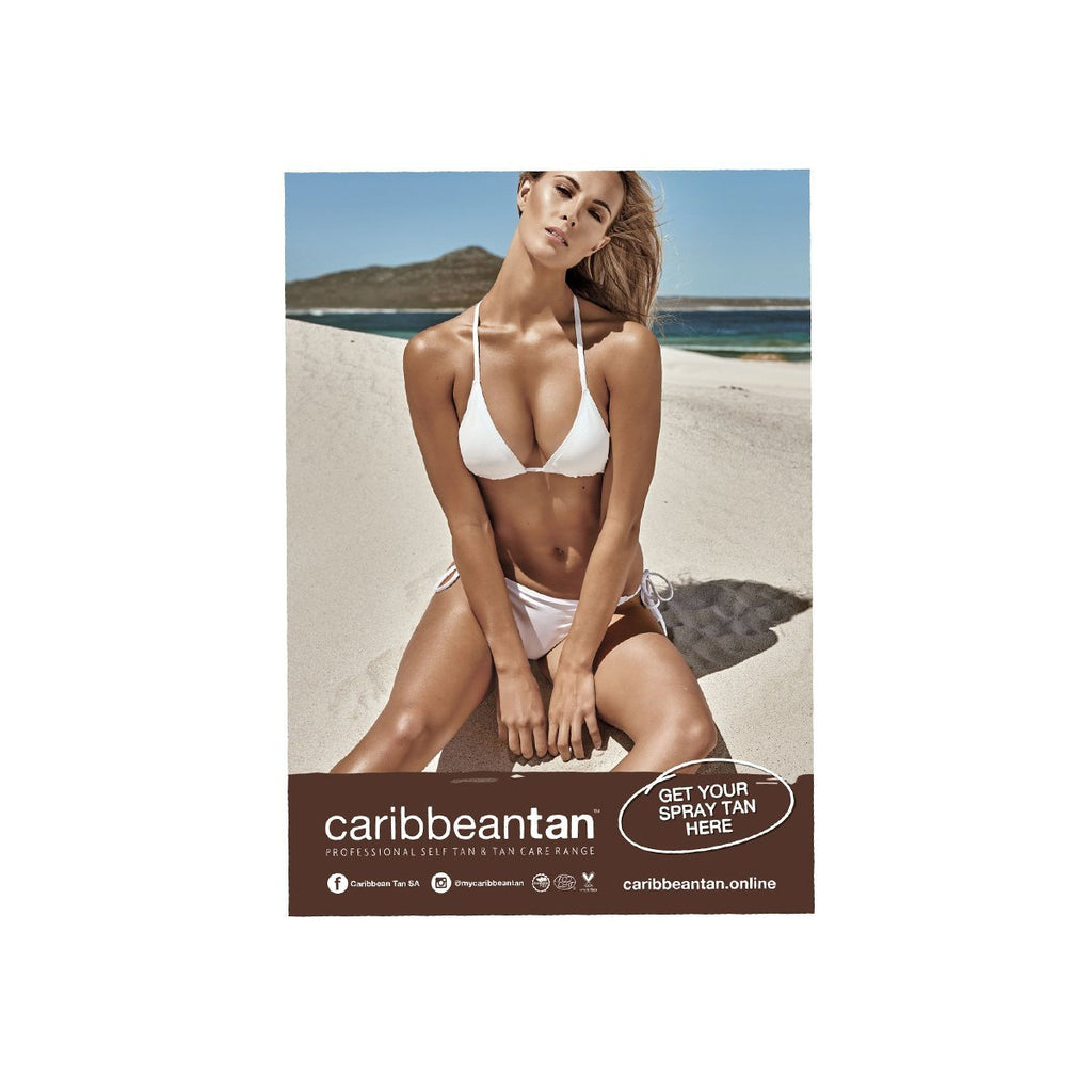 A1 Poster - Spray Tan Here - Caribbeantan