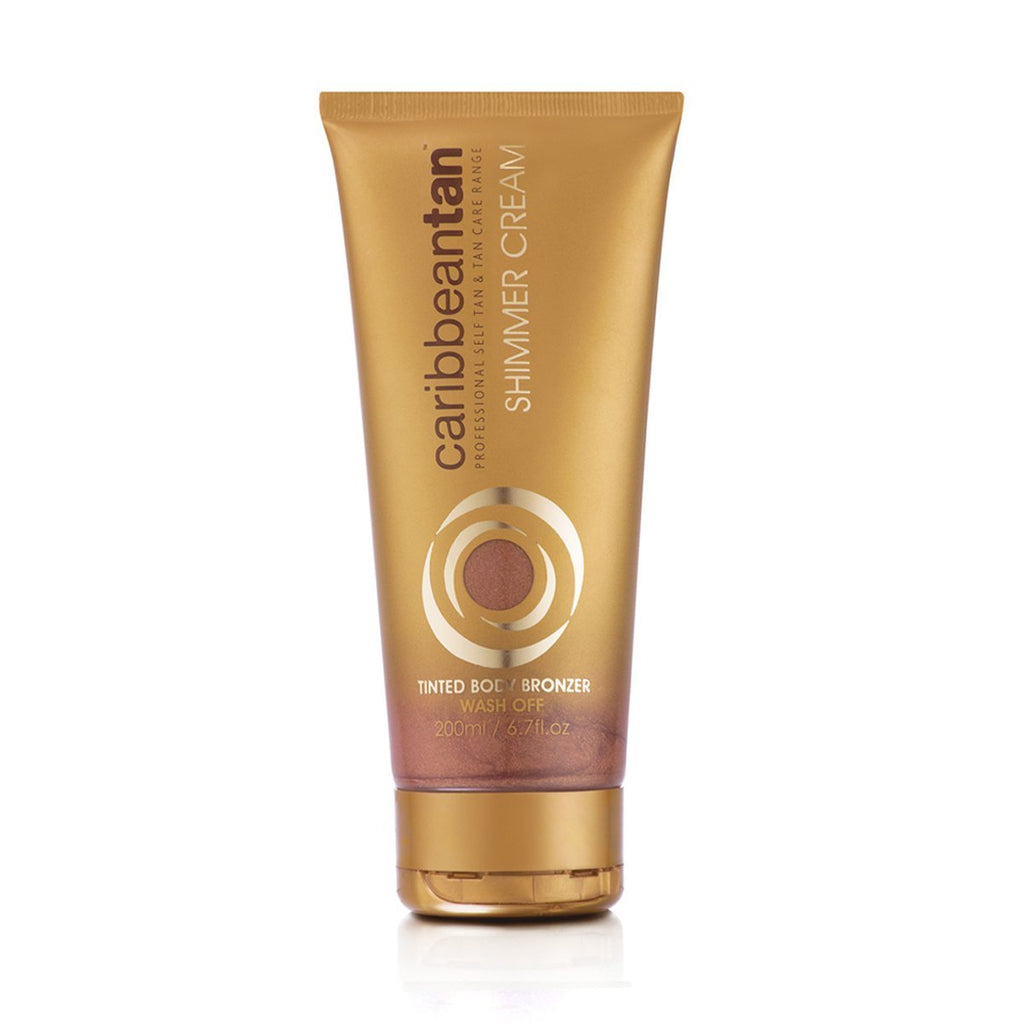 Tinted Body Bronzer Shimmer Cream - Wash Off Tan - 200ml - Caribbeantan