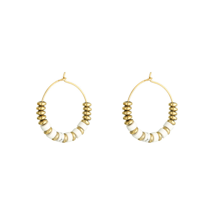 Tabitha Beaded Hoops