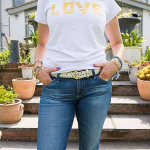Rainbow leather Splash Belt