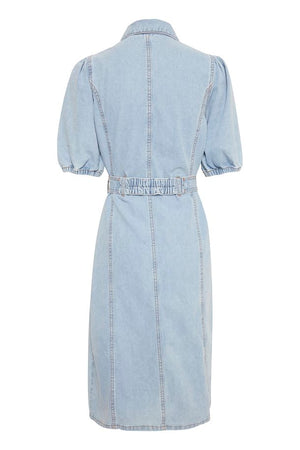 Pale Blue Denim Dress
