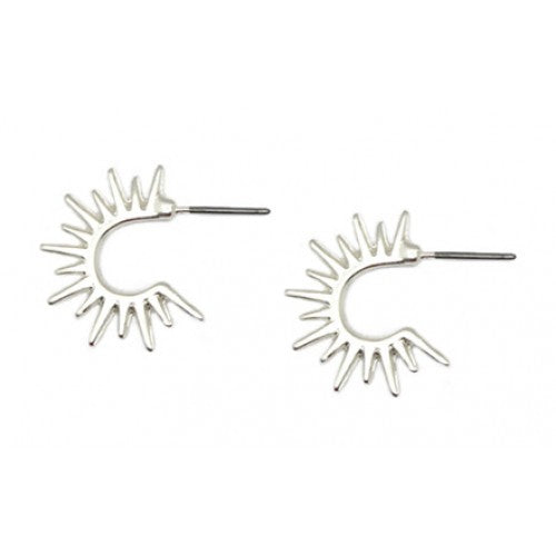 Sunburst Earrings Silver