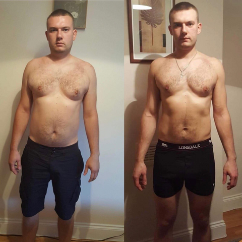 Before and After Przemek - Keto Diet