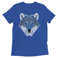 t-shirt manches courtes wolf lowpoly bleu royal / short sleeve wolf lowpoly royal blue
