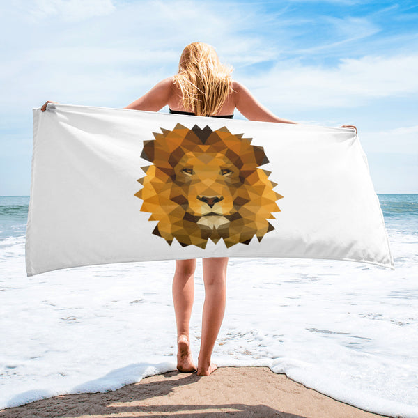 serviette de plage lion lowpoly polygon
