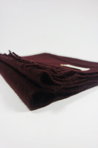 The Cashmere & Lambswool Scarf - Merlot