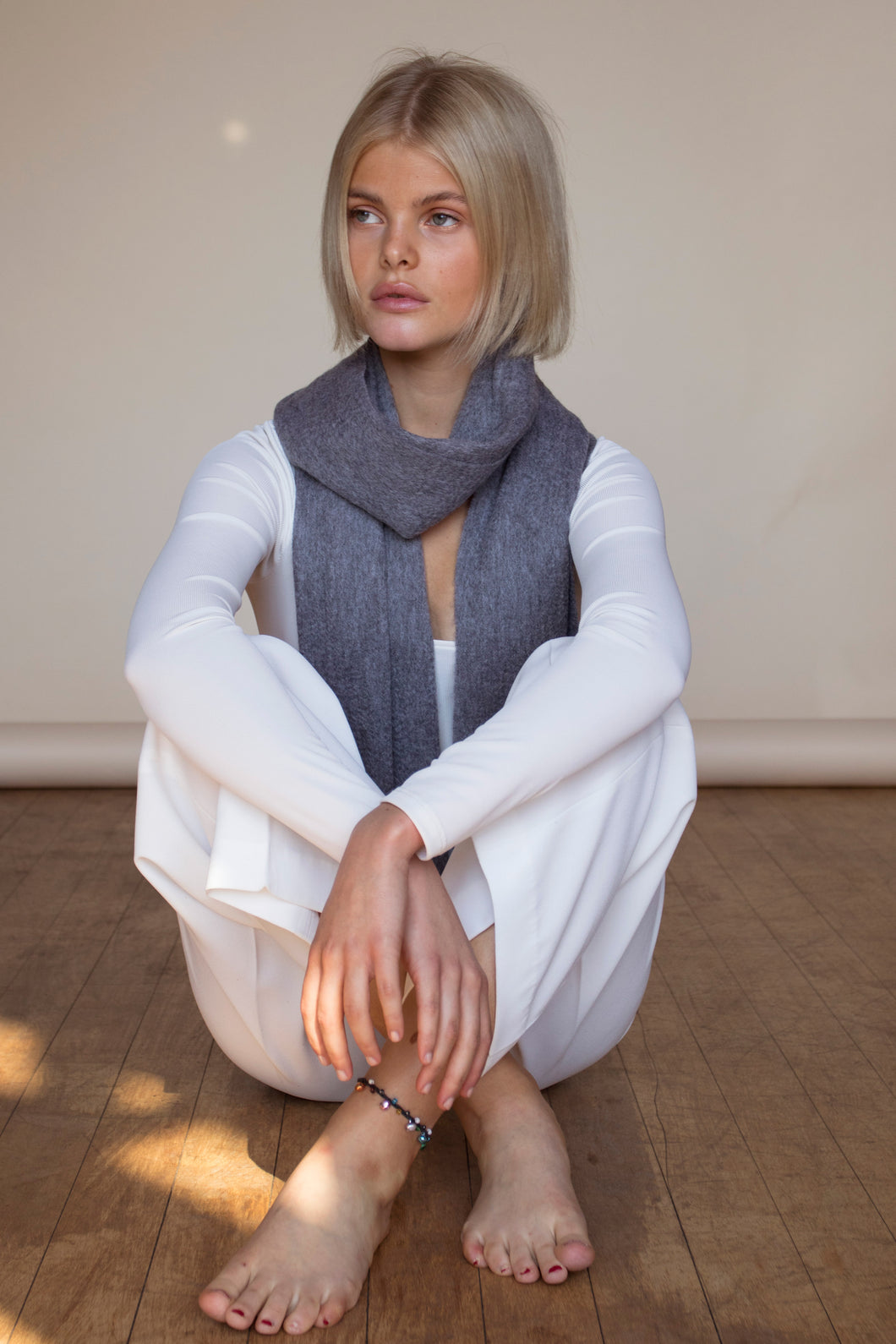 The Cashmere & Lambswool Scarf - Grey