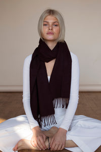The Cashmere & Lambswool Scarf - Malbec