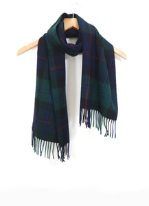 The Cashmere & Lambswool Scarf - Edinburgh Green Tartan