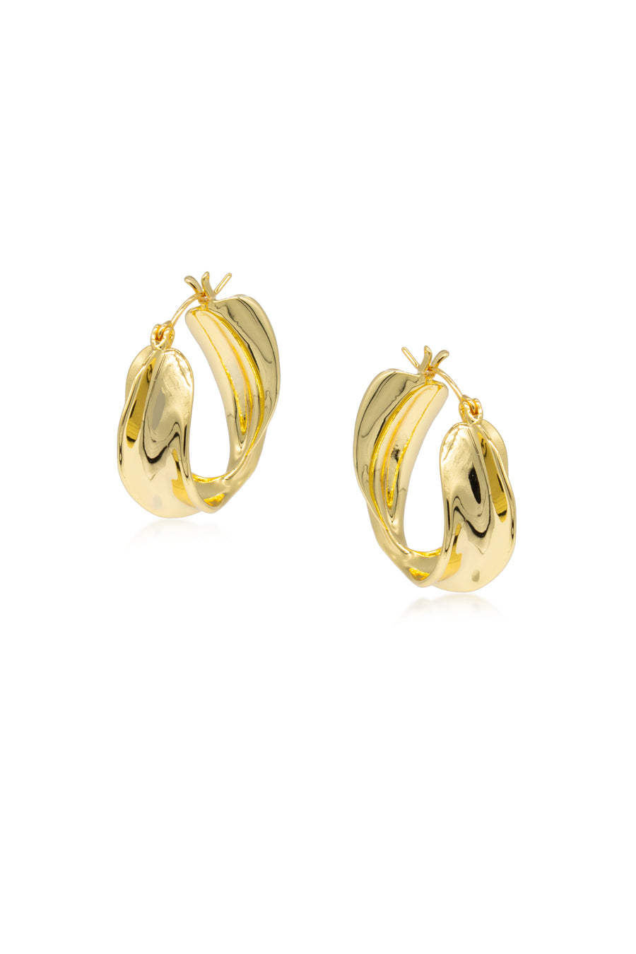 LILLY Molten Hoop Earrings
