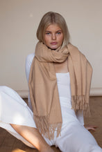 The XL Lambswool Scarf  - Camel