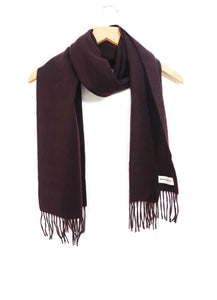 The Cashmere & Lambswool Scarf - Malbec Wine