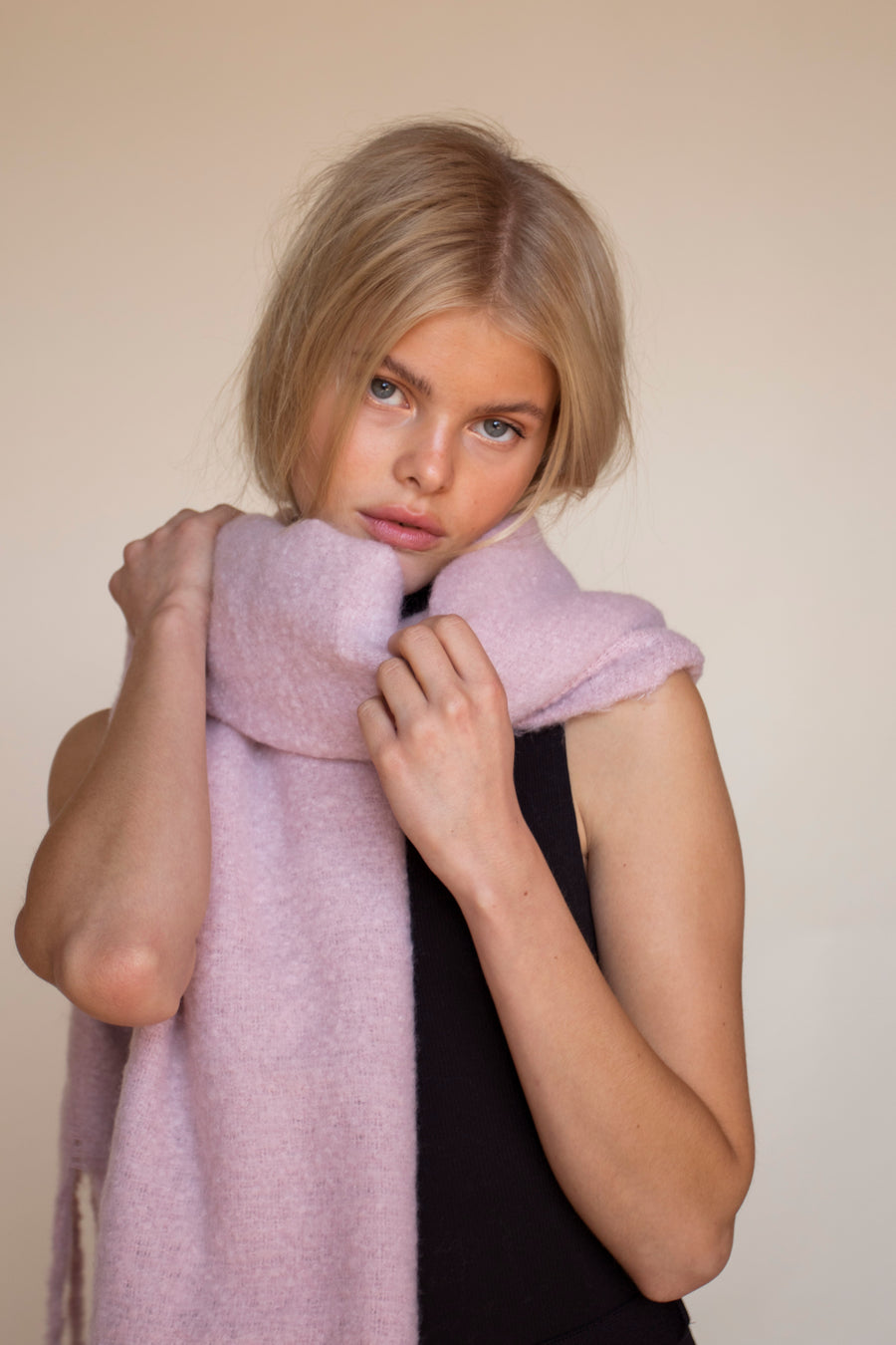 The Reykavik Scarf - Terracotta Red
