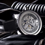 AEGAON, Peacemaker 65, skeleton watch, mechanical watch, oversized watch, big watch, huge watch, biggest watch, 65mm watch, watch for big men, big wrist watch.
