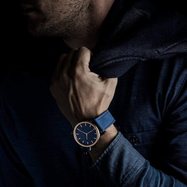 AEGAON, Tabula Rasa, blue mens watch.