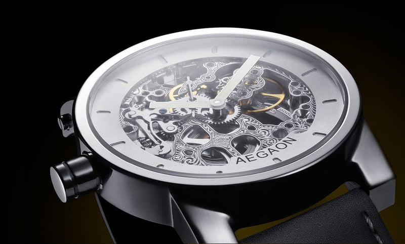 AEGAON Peacemaker 53, skeleton watch, mens watch, women's watch, unisex watches.