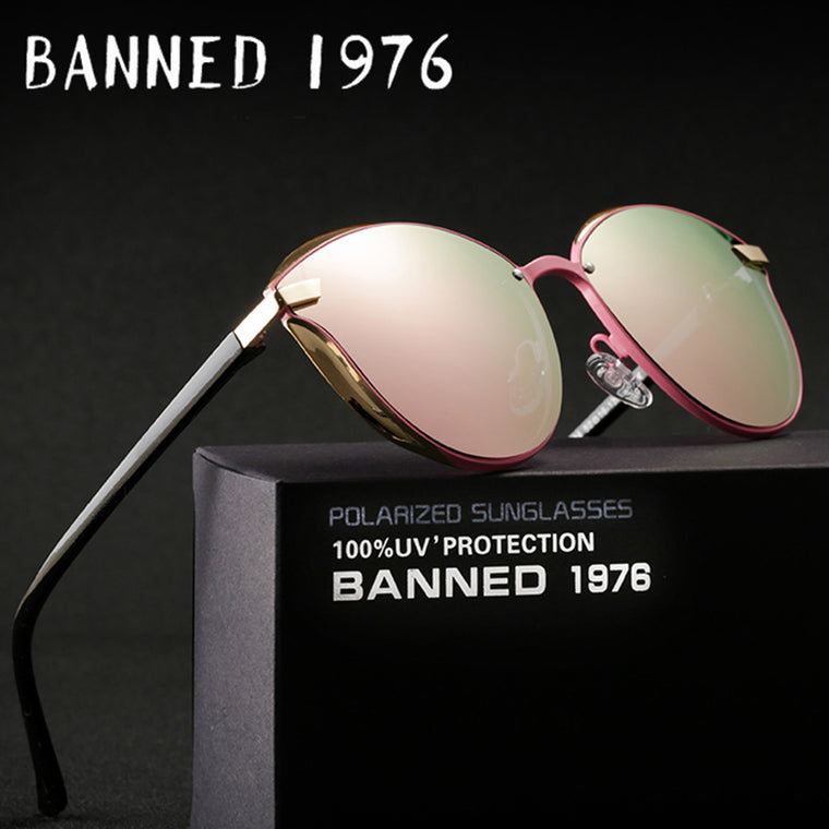 BANNED 1976 Luxury Women Sunglasses Fashion Round Ladies Vintage Retro Brand Designer Oversized Female Sun Glasses oculos gafas - Milo-boutique