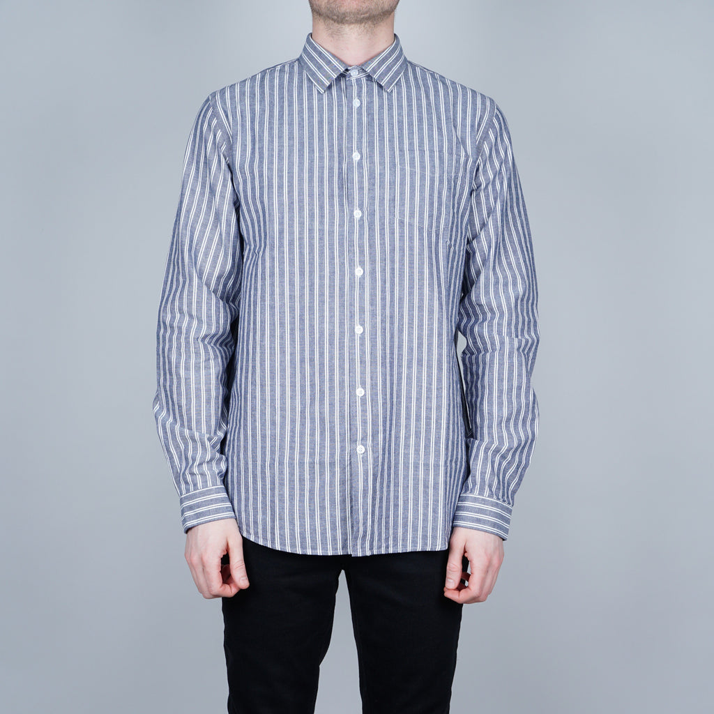 Libertine-Libertine Lynch Shirt - Blue with white stripes
