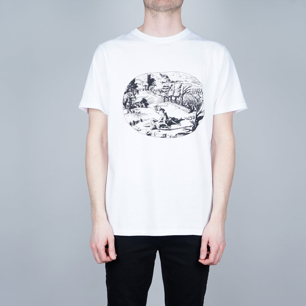 Soulland Needa T-shirt - White with pattern