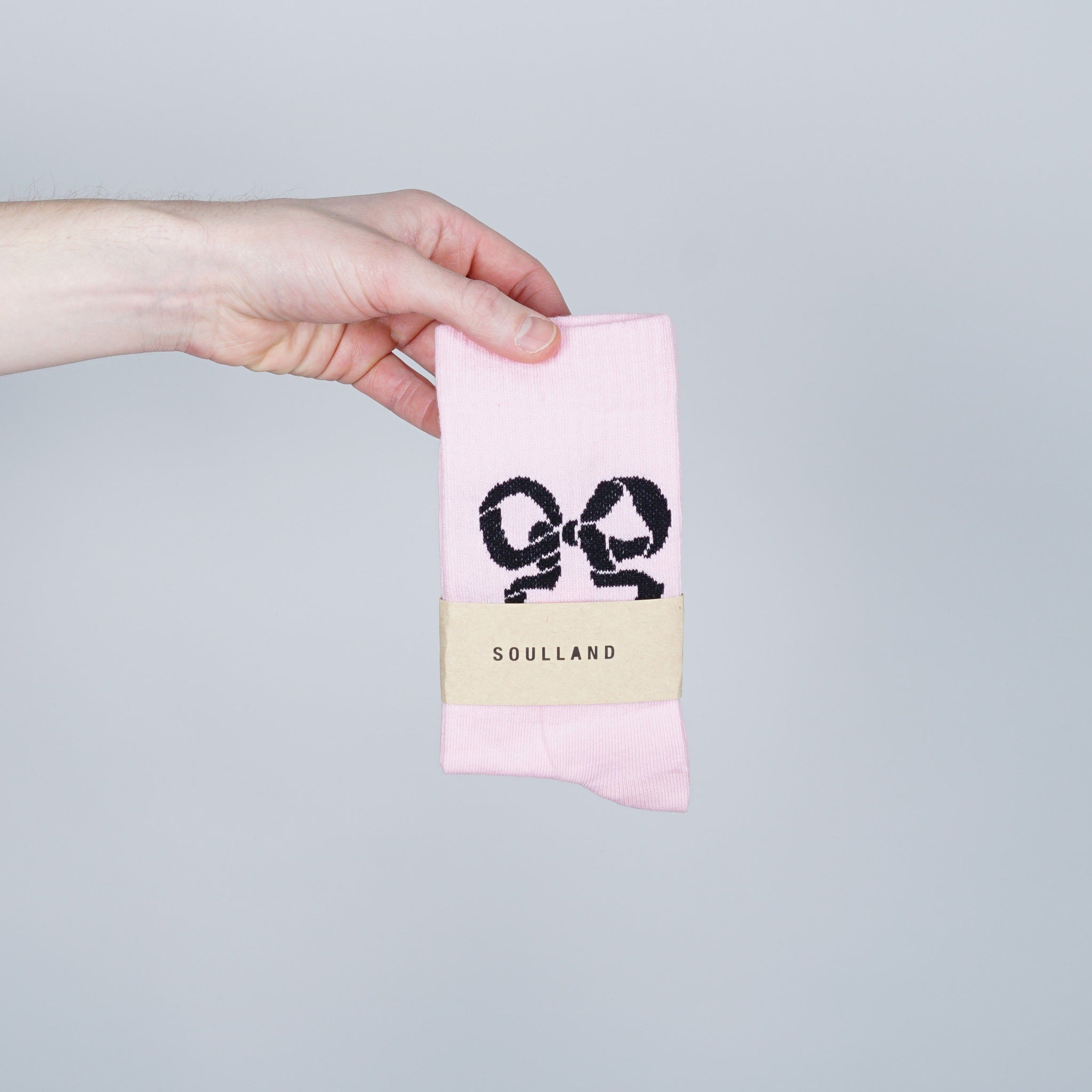 Soulland Ribbon Socks - Pink