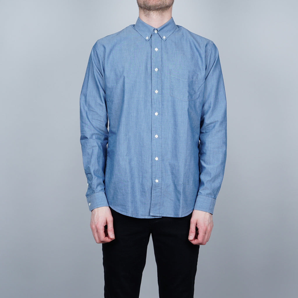Schnayderman's Leisure Mussola Twill Shirt - Light blue
