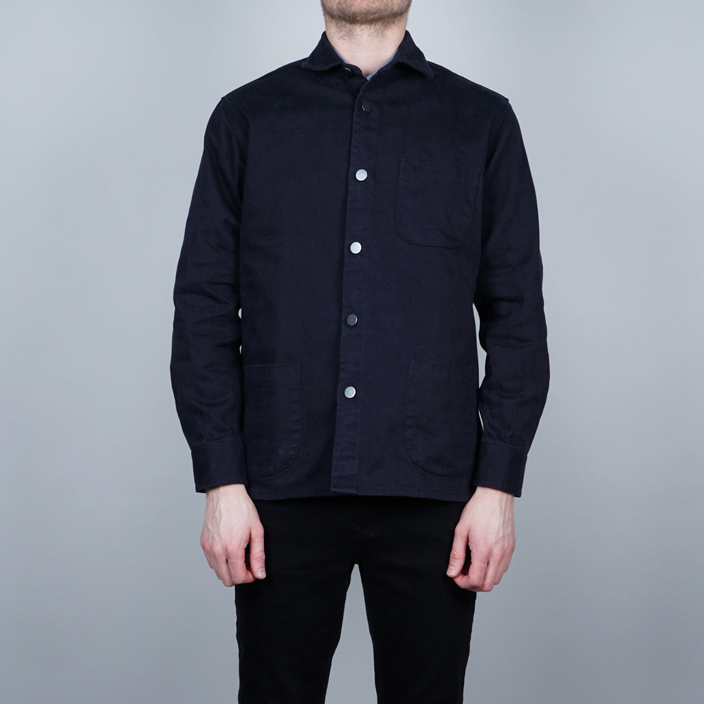 Schnayderman's Twill One overshirt - Dark blue