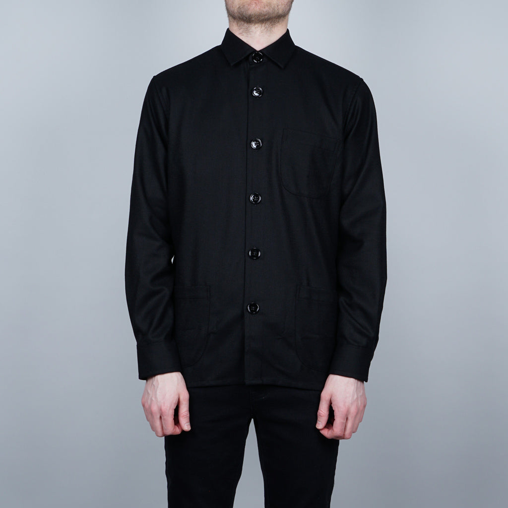 Schnayderman's Virgin Wool overshirt - Black