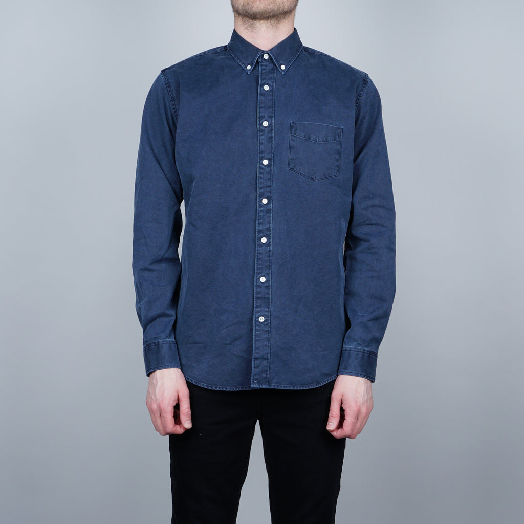 Schnayderman's Leisure Overdyed One Shirt - Dark blue