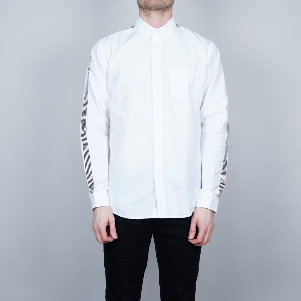 Schnayderman's Leisure Pinpoint Tape Shirt - White