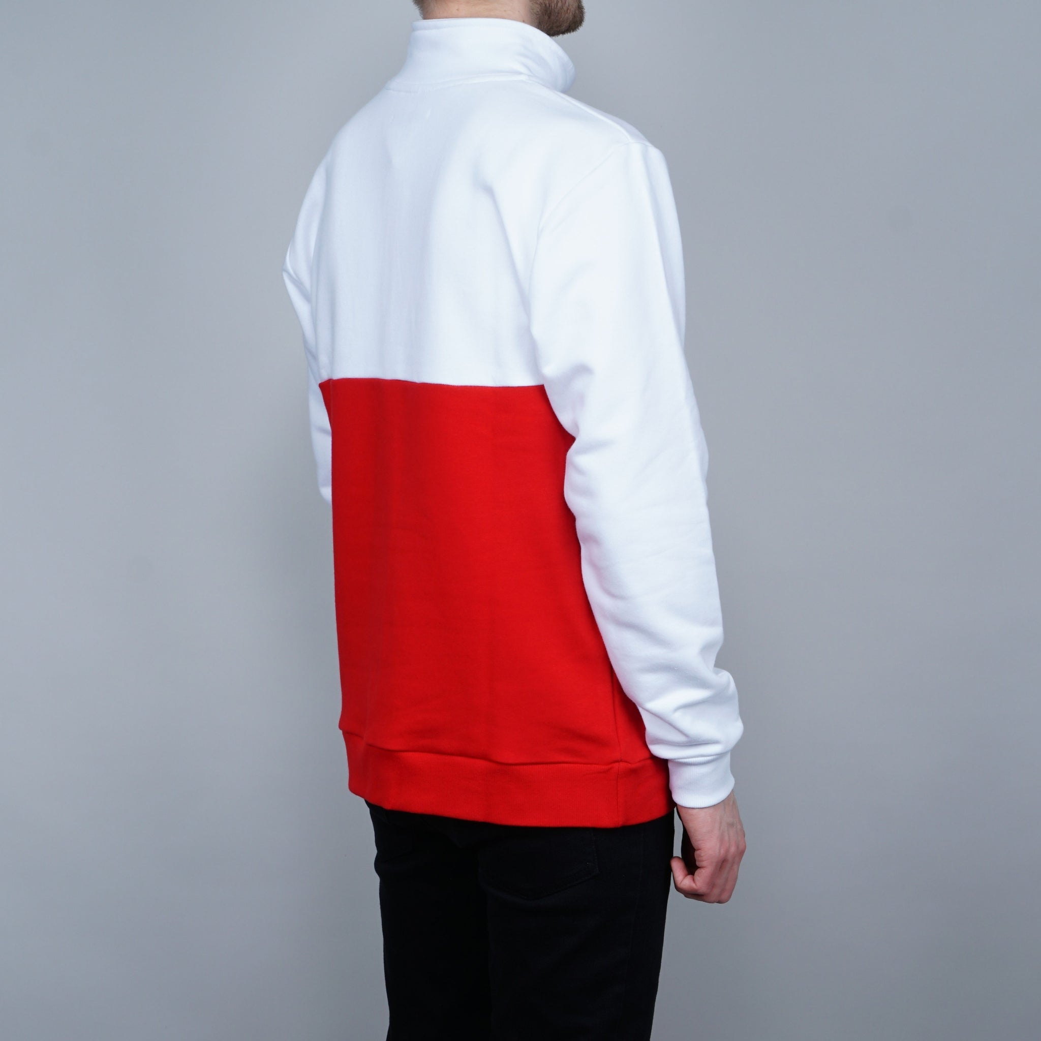 Post Details Shuffleboard Half Zip pullover - Red / white