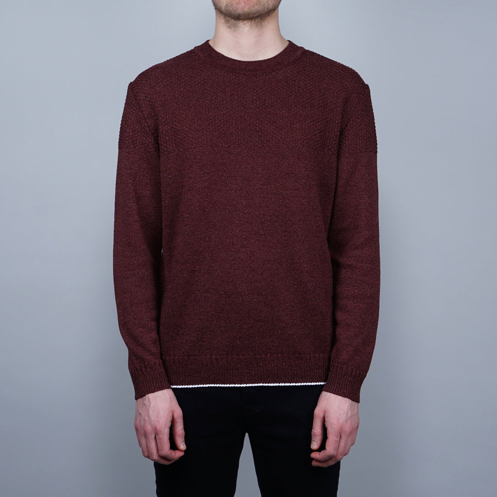 Still by Hand Paper Knit Sweater - Wine Red