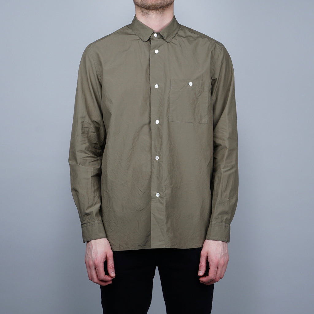 Still by Hand Round Collar Shirt