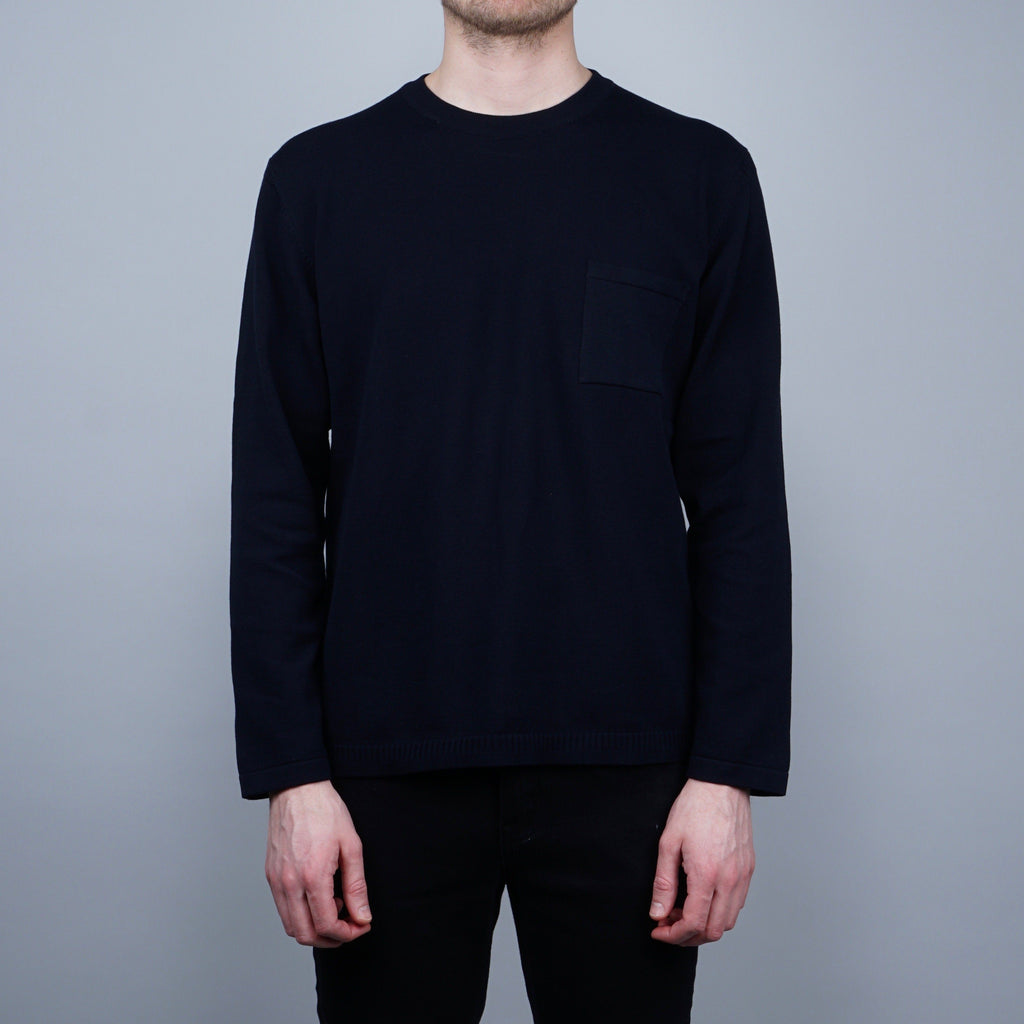 Still by Hand Ghandi Knitted Sweater - Navy