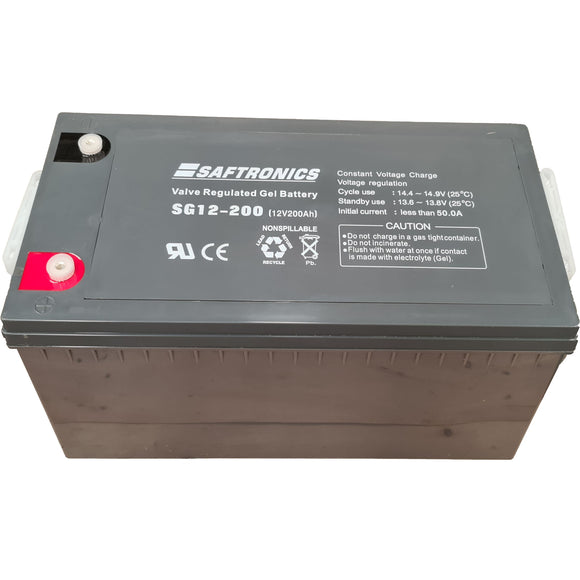 Saftronics Lead SG12-200 Battery