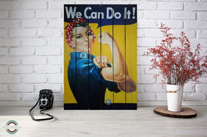 "Tableau palette bois ""We can Do it"" 60x90 - AtelierDeSken"