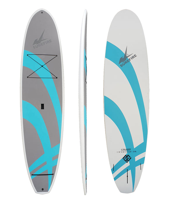 Cruiser SUP - Bamboo EVA - Full deck grip - Surefire Boards