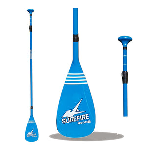 Adjustable Fibreglass SUP Paddle BLUE - Surefire Boards