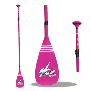 Adjustable Fibreglass SUP Paddle Pink - Surefire Boards