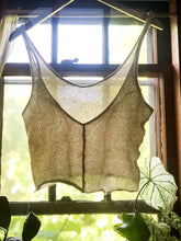 MADE TO ORDER  Open Knit Hemp Peony Top