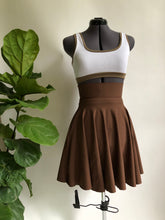 Brown High Waist Pocket Skirt