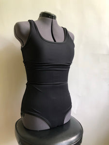 M/L Black Ribbed One Piece