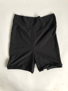 Black High Waist Bike Shorts/ Yoga Shorts